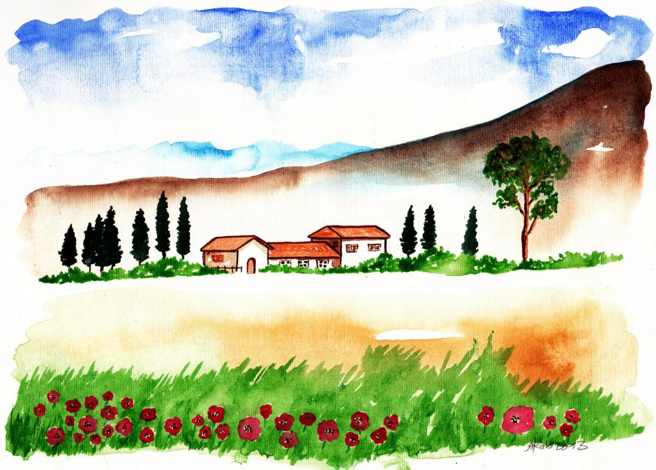 Landscape X Nature Drawings Pictures Ideas For Kids Easy And Simple