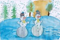 Snowman.Children's Drawings