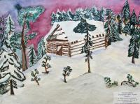 Winter Carpathians.Children's Drawings