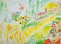 Village Our Ukraine.Children's Drawings