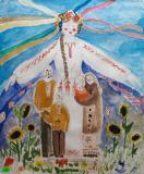 Ukraine - my mother.Children's Drawings