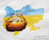 The native Ukrainian nest.Children's Drawings
