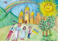 I draw Ukraine.Children's Drawings