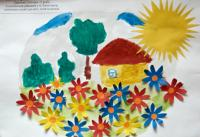 Our Ukraine - sunny country.Children's Drawings