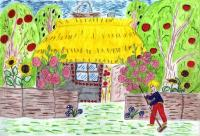 Cottage.Children's Drawings