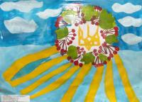 Independence Day Ukraine.Children's Drawings