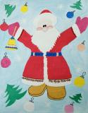 Santa Claus.Children's Drawings