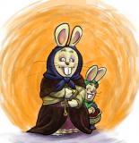 staring bunnies