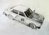Mitsubishi Lancer 1600 GSR Rally Car 1974