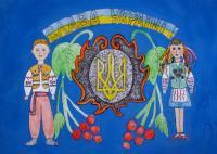 Glory to Ukraine.Children's Drawings