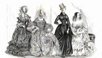 July 1840 Godey's Lady's Book Fashion Plate