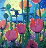 Poppies Under the Moon
