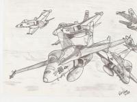Six US Navy F/A-18Cs