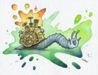 Brass Singing Snail