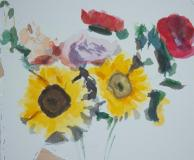 Peonies and Sunflowers