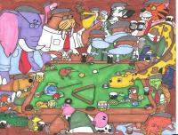 Animal Pool Table