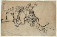 Tiger Attacking Elephant with Mahout
