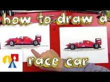 Embedded thumbnail for How To Draw A Race Car