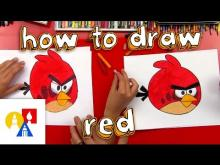 Embedded thumbnail for How To Draw Red From Angry Birds