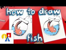 Embedded thumbnail for How To Draw Fish From The Cat In The Hat