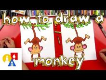 Embedded thumbnail for How To Draw A Monkey