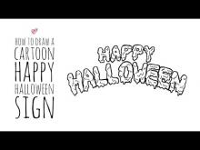 Embedded thumbnail for How to Draw a Cartoon Happy Halloween Sign