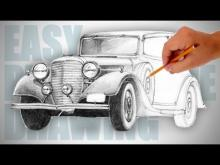 Embedded thumbnail for How to draw a retro car