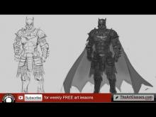 Embedded thumbnail for Drawing Batman knight tutorial