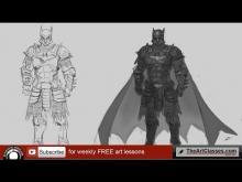 Embedded thumbnail for Drawing Batman knight tutorial