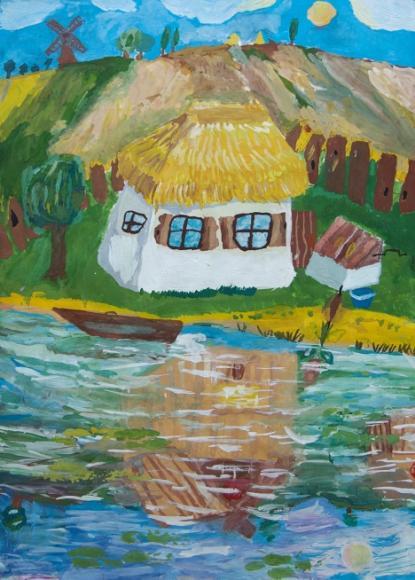 Lake time.Children's Drawings