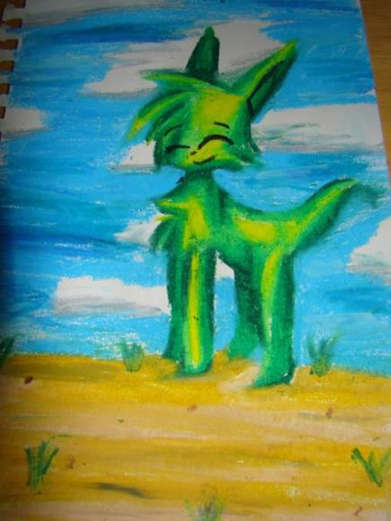 Oil Pastel Drawing