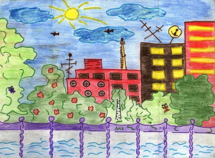 My city.Children's Drawings