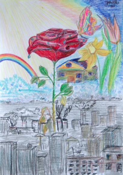 Apogee city.Children's Drawings