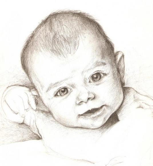 Baby my family drawings pictures drawings ideas for for Baby drawing easy