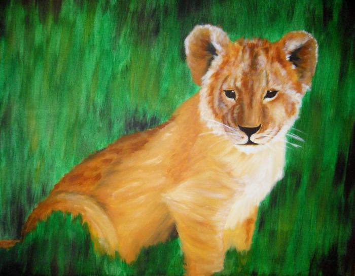 Baby Lion Animals Drawings Pictures Drawings Ideas For