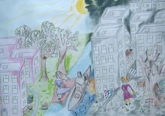 Clean City My Country Drawings Pictures Drawings Ideas