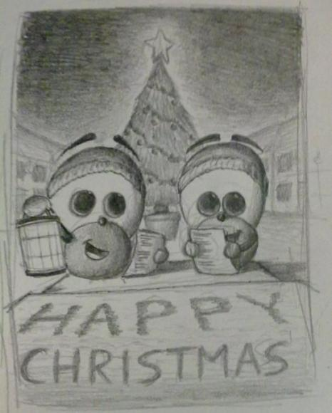 Christmas Card Doodle Holidays Drawings Pictures