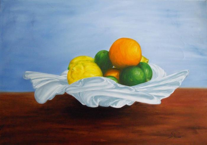 set of citric fruits