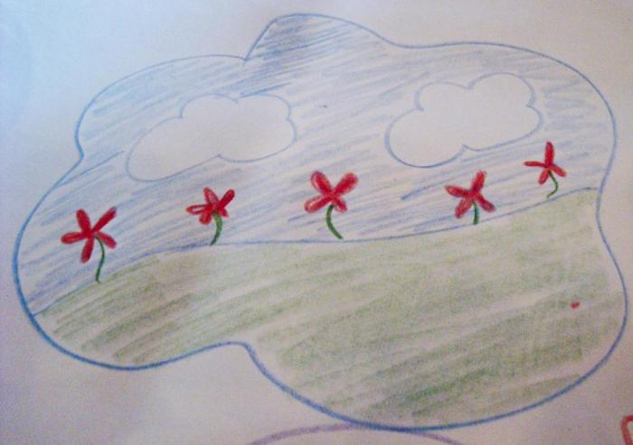 Drawing of a field
