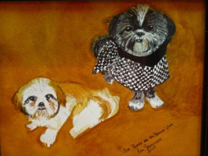 Portrait of my Granddogs