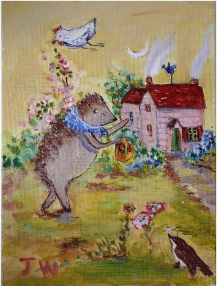 Hedgehog gardening