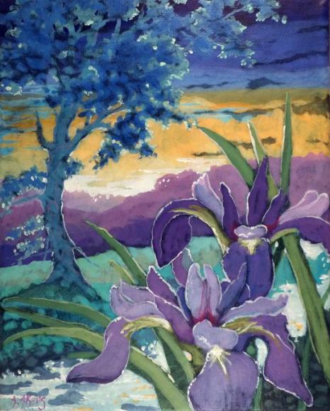 Moorcroft Musings Series Wild Iris