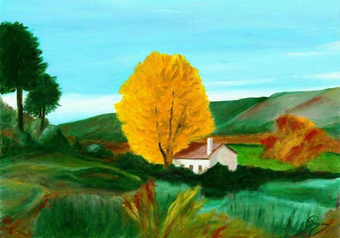 Oak in the fall