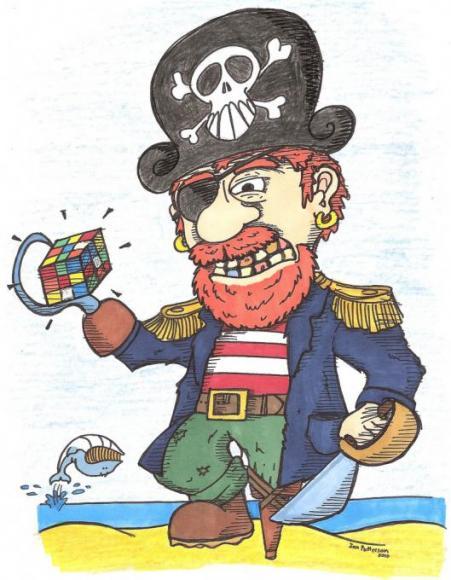 Rubix Cube Pirate