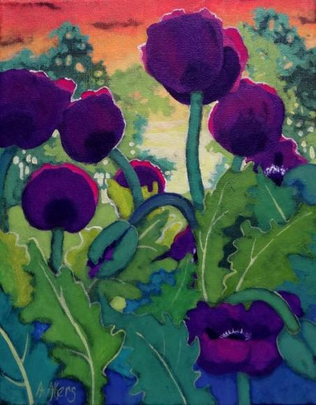 I fell in love with grape poppies