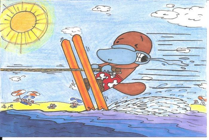Water Skiing Platypus