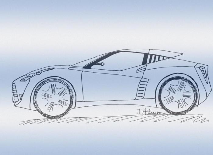 Sports Car Doodle Types Drawings Drawings Pictures Drawings