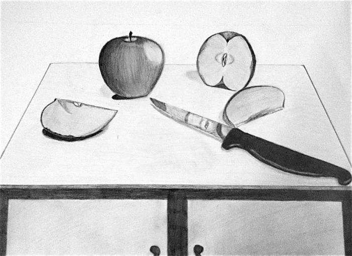 Still Life of Apples. Still Life. Drawings. Pictures ...