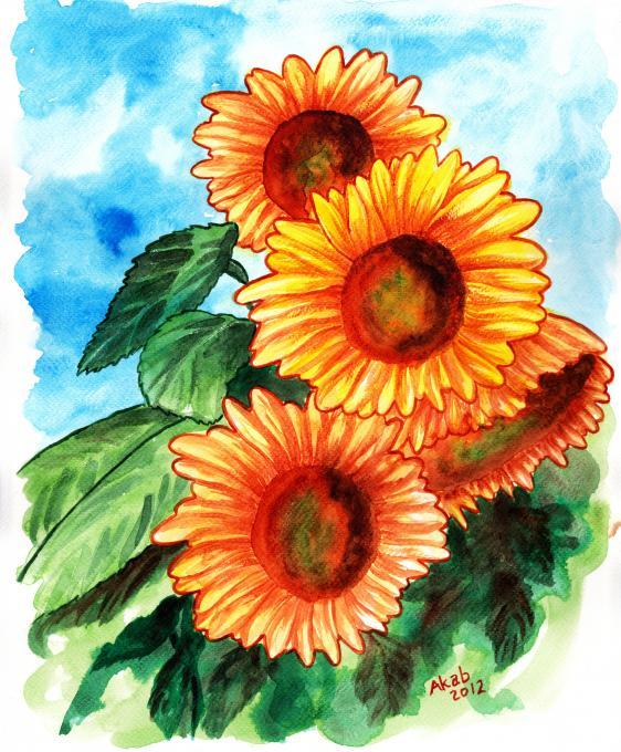 Tournesol A Gogo Flowers Drawings Pictures Drawings Ideas For