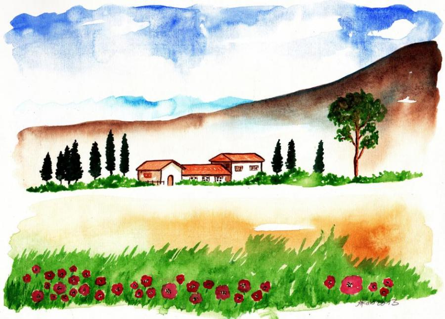 landscape x nature drawings pictures drawings ideas for kids - Simple Nature Drawing For Kids